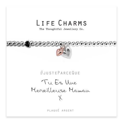 Life Charms FR - LC008BWF - Just because - Tu es une merveilleuse mamam