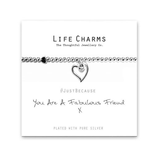 480209 - Life Charms - LC009BW - Just because - You are a fabulous Friend