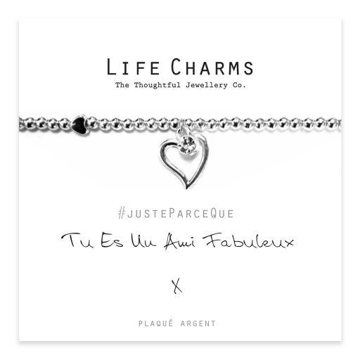 Life Charms FR - LC009BWF - Just because - Tu es Un Ami Fabuleux