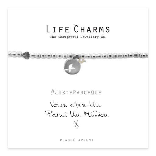 Life Charms FR - LC011BWF - Just because - Vous Êtes Un Parmi Un Million