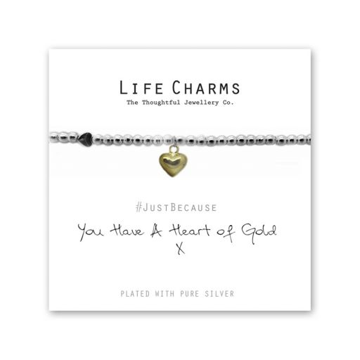 480214 - Life Charms - LC014BW - Just because - You have a Heart of Gold