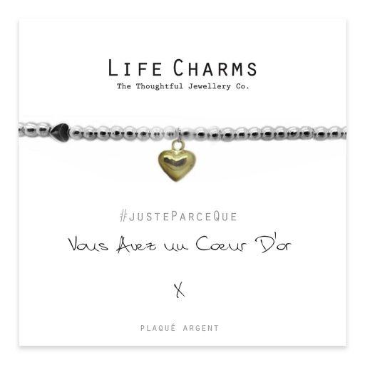 Life Charms FR - LC014BWF - Just because - Vous avez un Cœur D-or