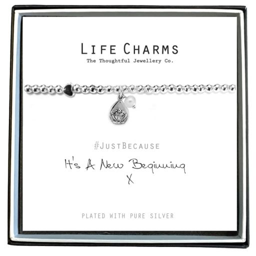 480215 - Life Charms - LC015BW - Just because - It-s a new beginning