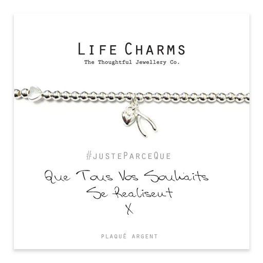 Life Charms FR - LC022BWF - Just because - Que Tous Vos Souhaits Se Réalisent