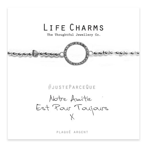 Life Charms FR - LC025BWF - Just because - Notre Amitie est pour Toujours