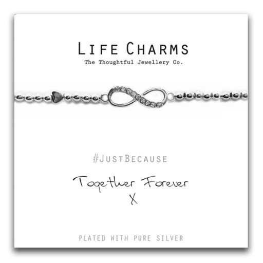 480227 - Life Charms - LC027BW - Just because - Together Forever