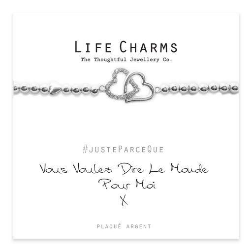 Life Charms FR - LC033BWF - Just because - Vous Voulez Dire Le Monde Pour Moi