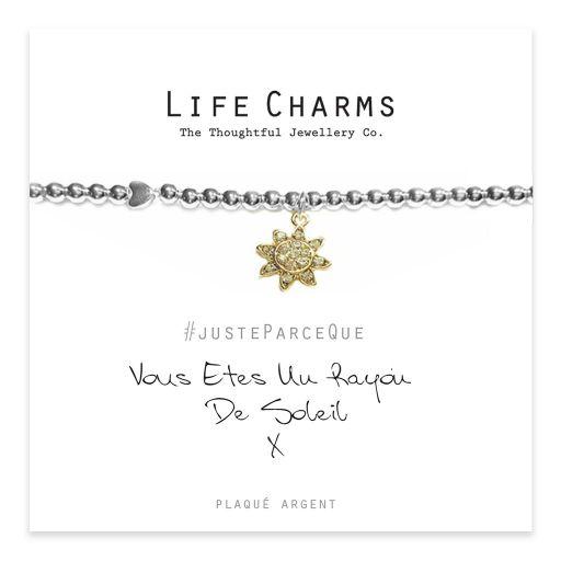 Life Charms FR - LC042BWF - Just because - Vous Êtes Un Rayon De Soleil
