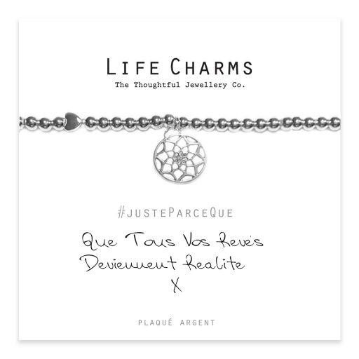 Life Charms FR - LC045BWF - Just because - Que Tous Vos Rêves Deviennent Réalité