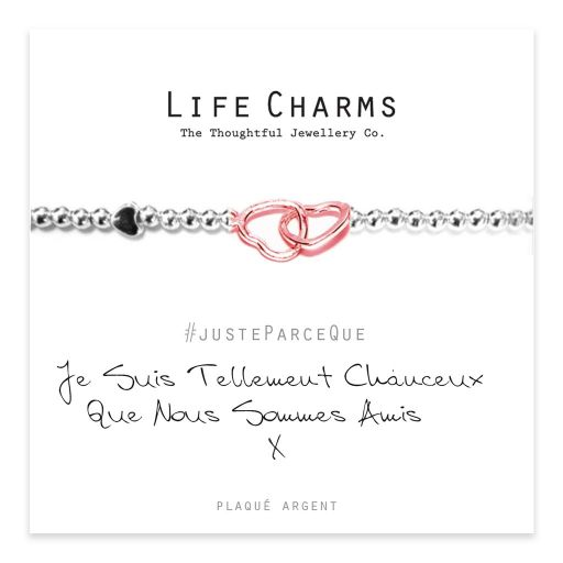 Life Charms FR - LC074BWF - Just because - Je suis tellement chanceux que nous sommes amis