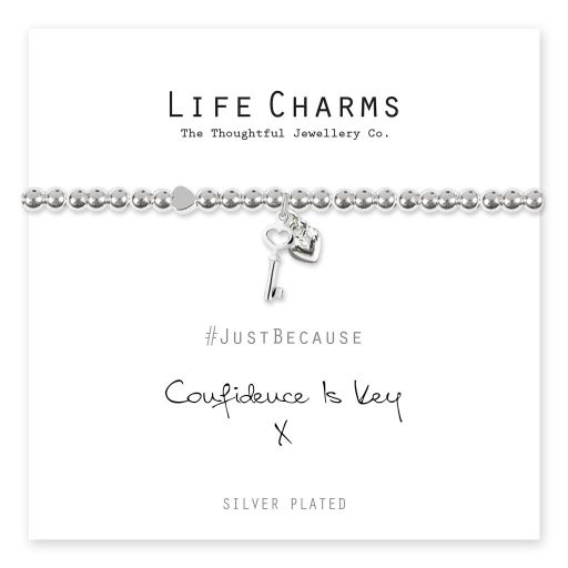 4817307 Life Charms - LC107BW - Just because - Confidence is the Key