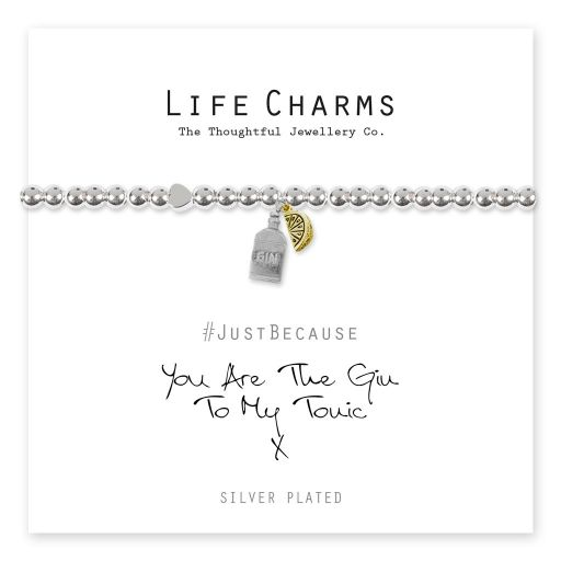 4817309 Life Charms - LC109BW - Just because - Gin is my Tonic