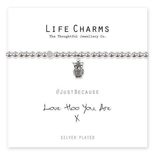 4817312 Life Charms - LC112BW - Just because - Love Hoo You Are