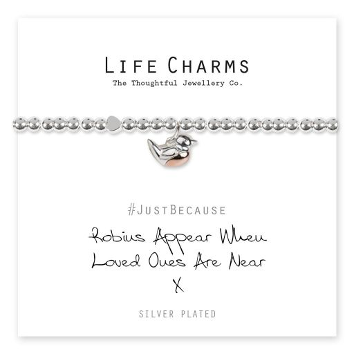 4817313 Life Charms - LC113BW - Just because - Robins Appear