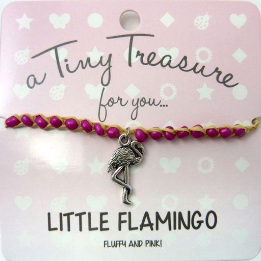 Tiny Trease armband - Little Flamingo