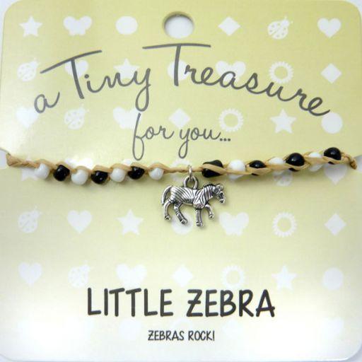 Tiny Trease armband - Little Zebra