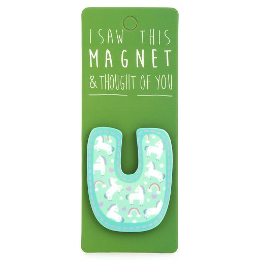 I saw this Magnet and .... - MA040 - Letter U