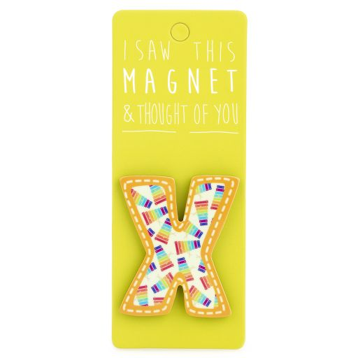 I saw this Magnet and .... - MA043 - Letter X