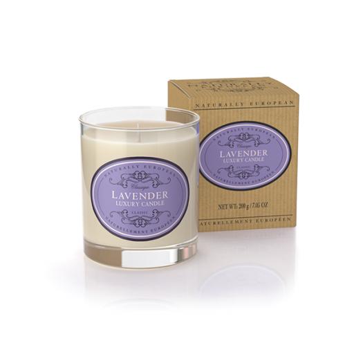 Candle in pot Lavender, lavendel