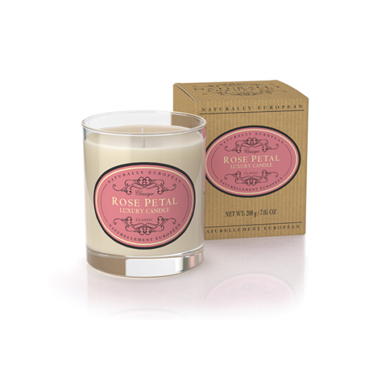 Candle in pot Rose Petal, Roos