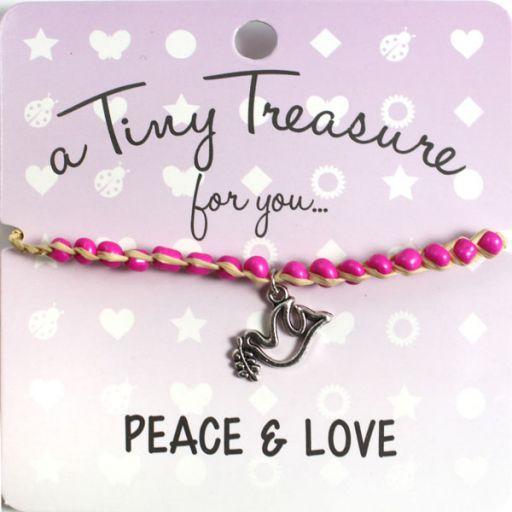 Tiny Treasure armband - Peace & Love
