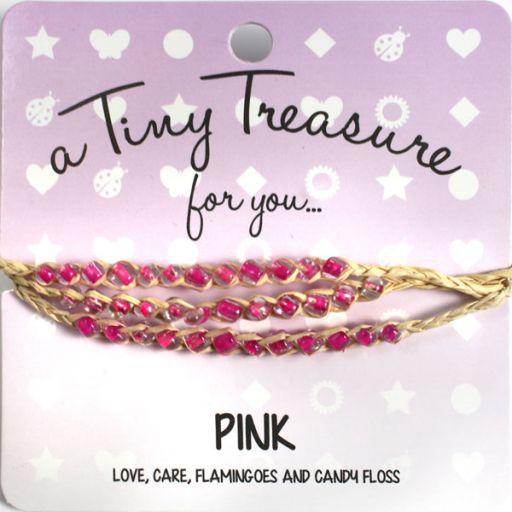 Tiny Treasure armband - Pink