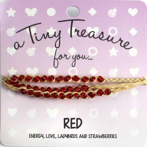 Tiny Treasure armband - Red