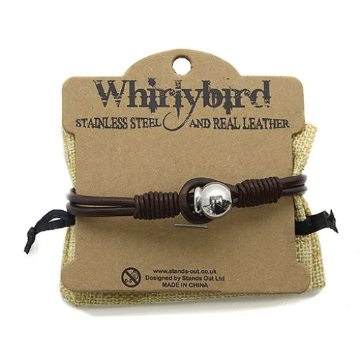 Stainless Steel Leather bracelet - SL9