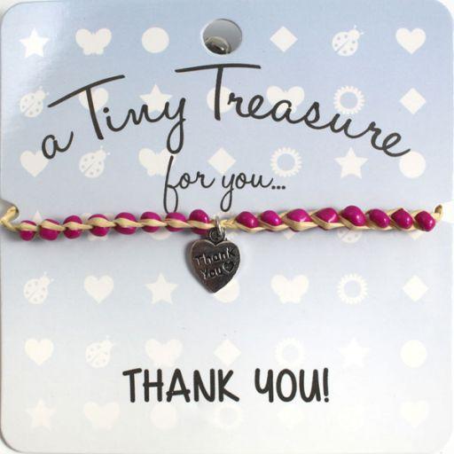 Tiny Treasure armband - Thank You