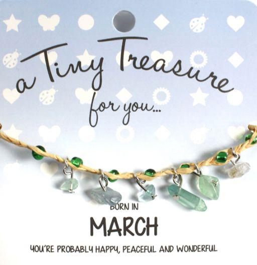 Tiny Treasure armband maart