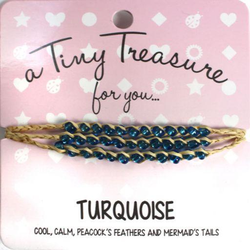 Tiny Treasure armband - Turquoise