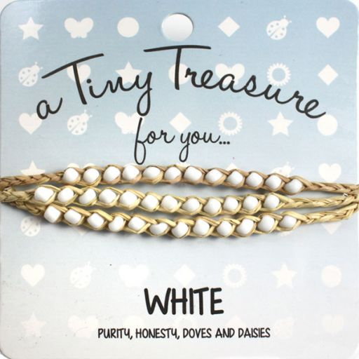 Tiny Treasure armband - White