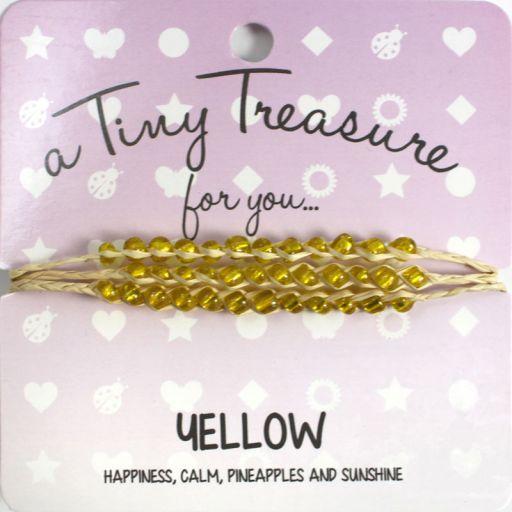 Tiny Treasure armband - Yellow