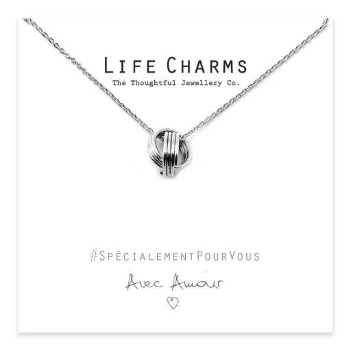 Life Charms - YY11F - Anneaux porte-bonheur en argent à 2 couches