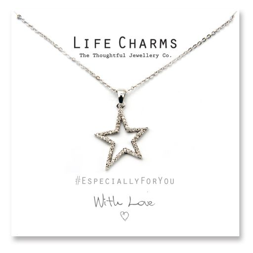 Life Charms - YY16 - Necklace Silver Starburst