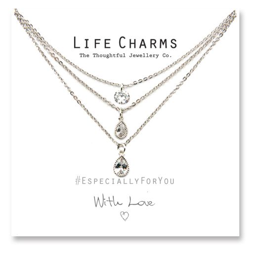 480521 - Life Charms - YY21 - Necklace 3 layer Crystal
