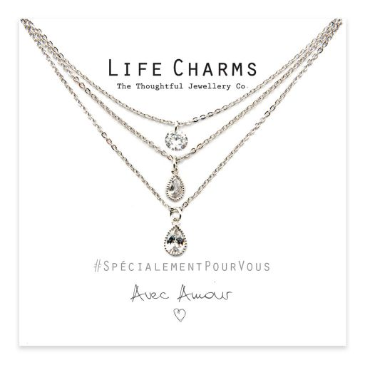 Life Charms - YY21 - Necklace 3 layer Crystal